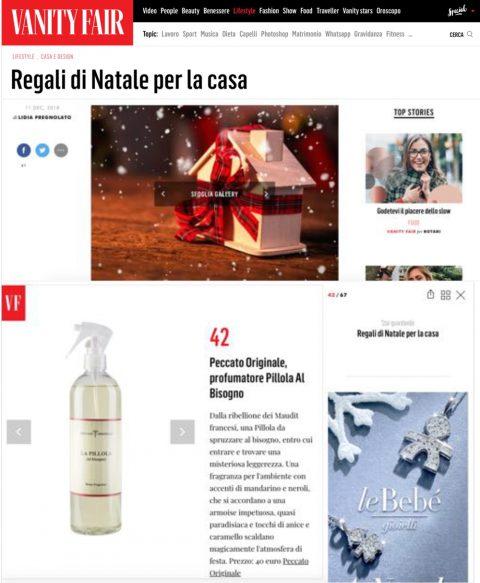 Regali Di Natale Da 40 Euro.Vanity Fair Regali Di Natale Per La Casa Peccato Originale
